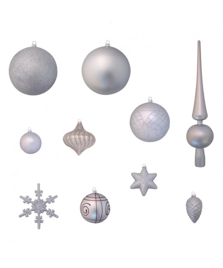 Luxury-Tree-Silver-180cm-Ornaments