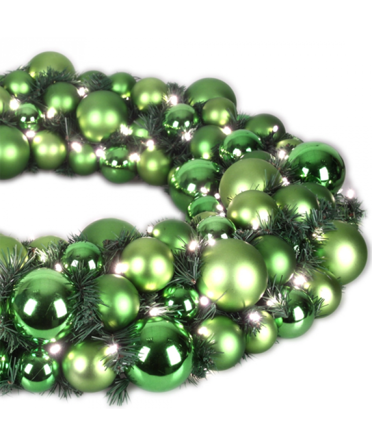 Luxury Wreath Refreshing Green 75cm-1266