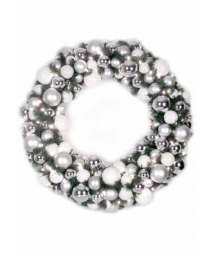 Luxury Wreath Bright Silver 75cm-0