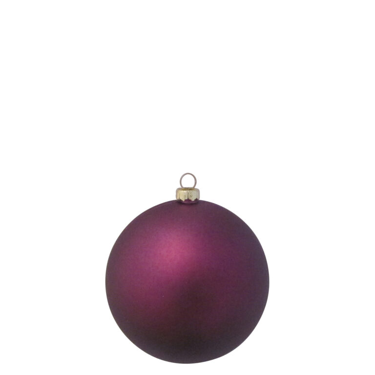 Selection of 8cm Baubles in purple tones-1528